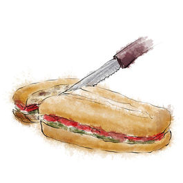 Mediterranean Pressed Sandwich