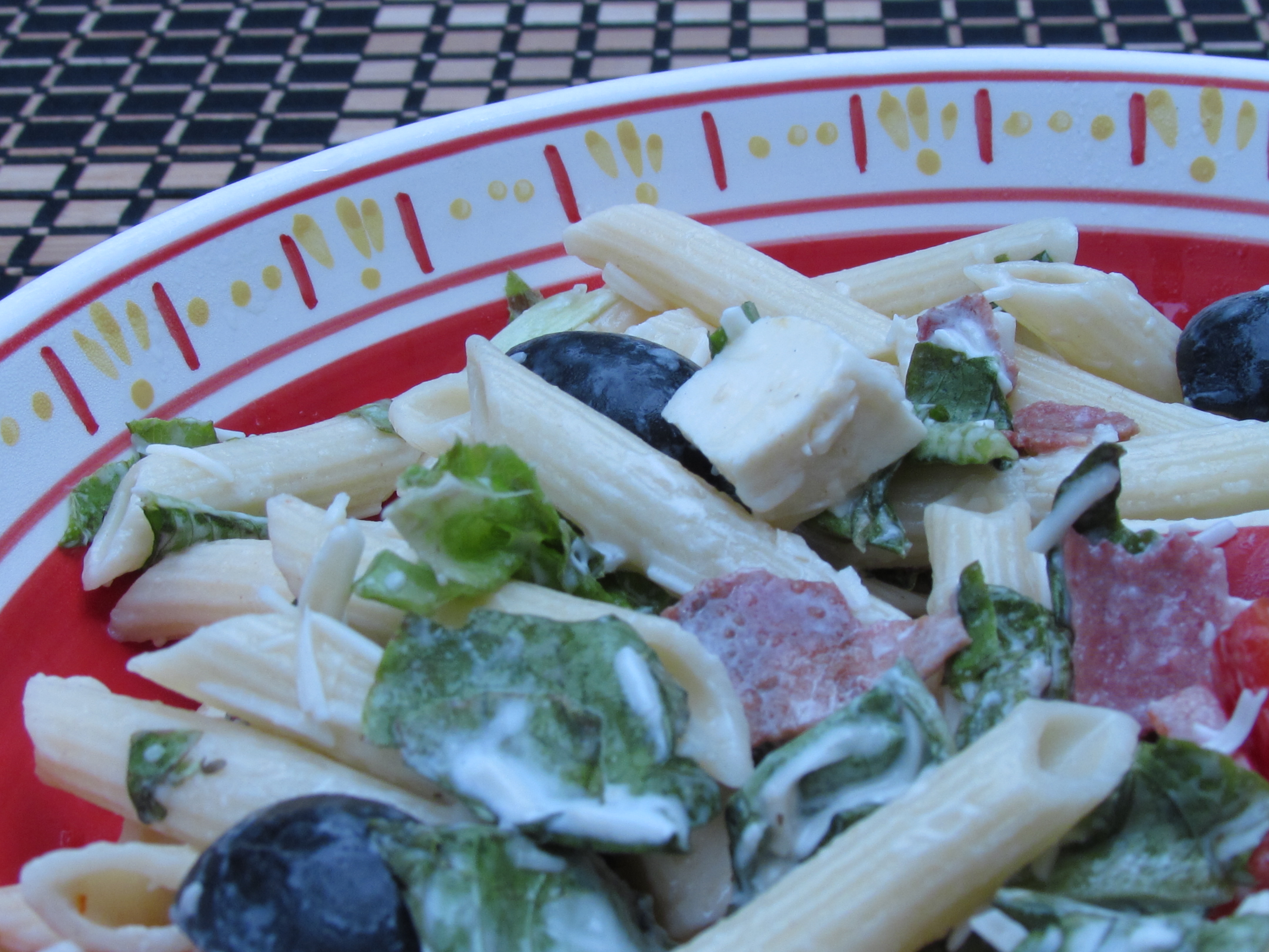 Creamy Caesar Pasta Salad with Romaine