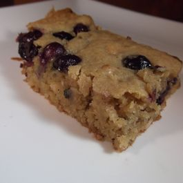 Browned Butter Blueberry Macadamia Blondies