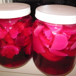 Beet Infused Pink Pickles