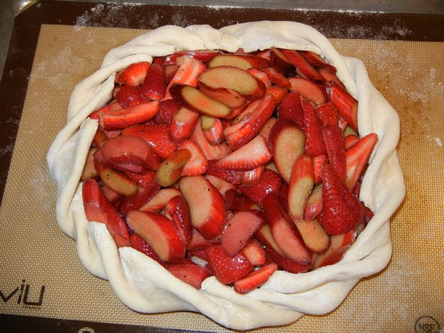 Strawberry Rhubarb Tart