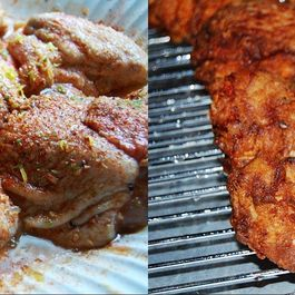 Jerk Fried Chicken on the Bone