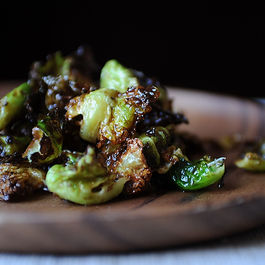 Crispy Fried Brussels Sprouts with Honey and Sriracha by DragonFly