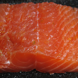 Citrus-cured salmon