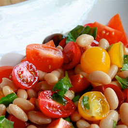 Mixed Tomato and Cannellini Bean Salad
