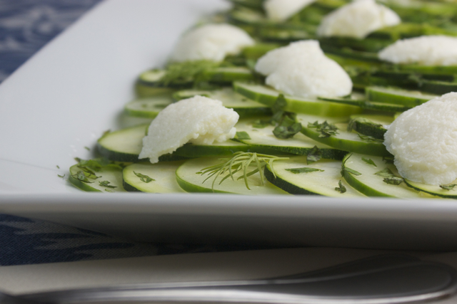 Zucchini & Cucumber 'Beat the Heat' Carpaccio