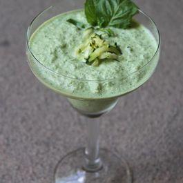 Creamy Cold Zucchini Basil Soup