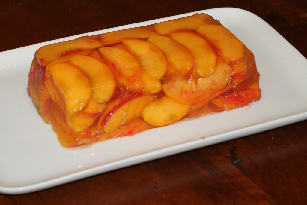 Peaches and Cava Terrine
