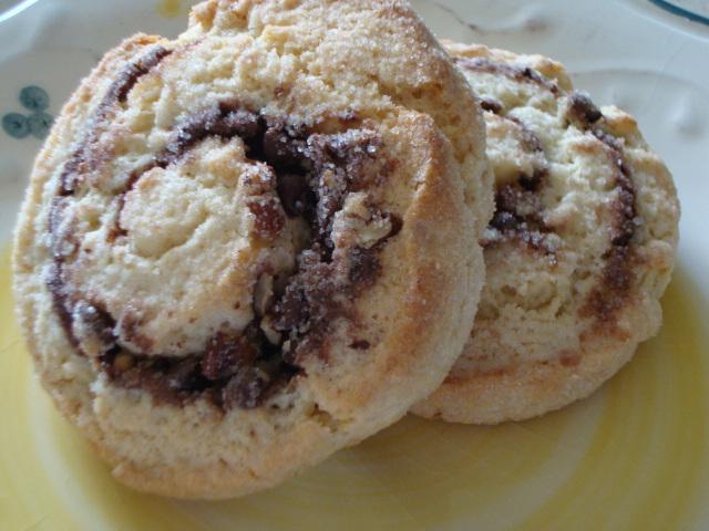 Nutella & Pecan Swirl Biscuit Buns