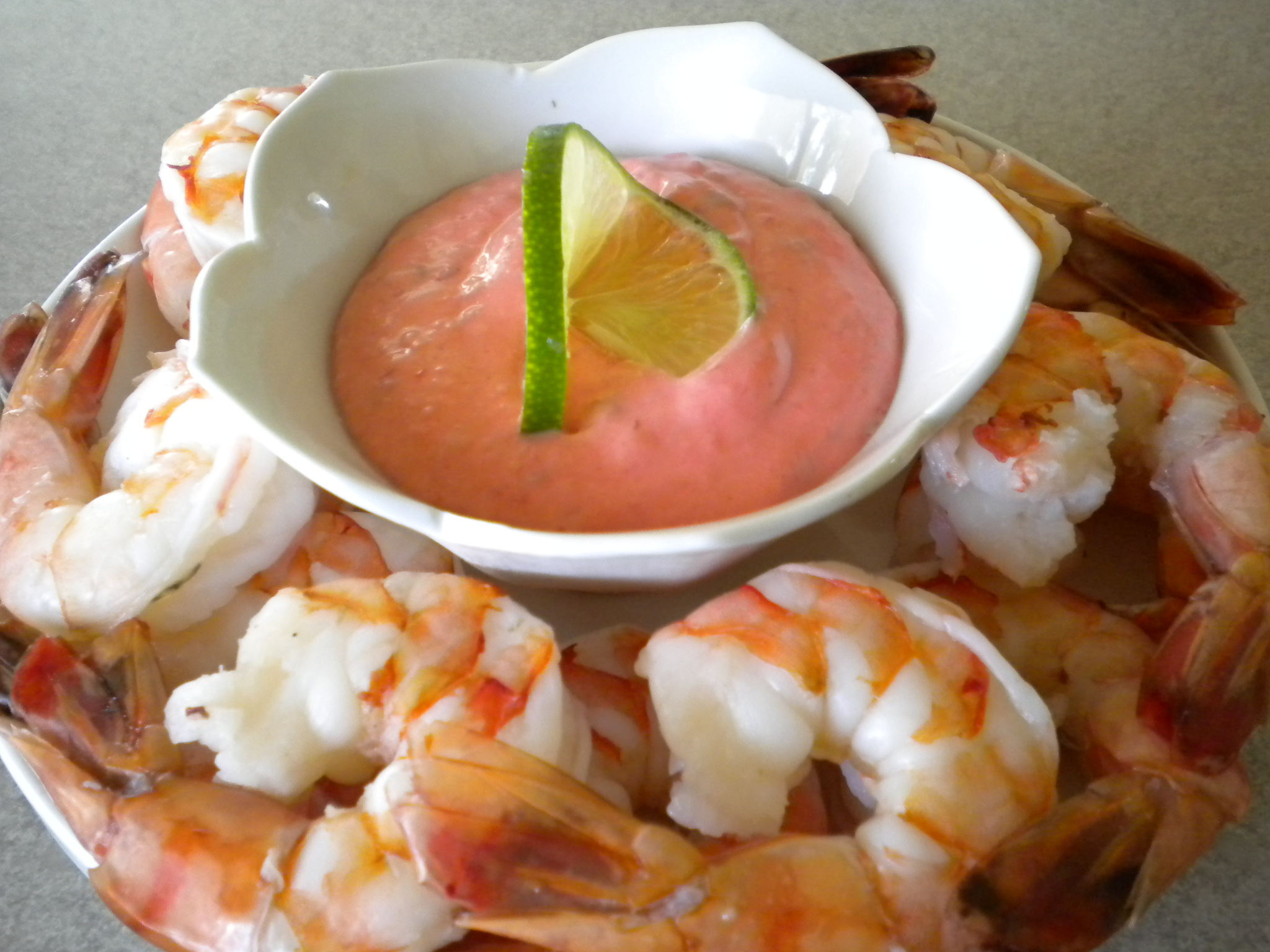 Shrimp with a Spicy Raspberry Cocktail Sauce