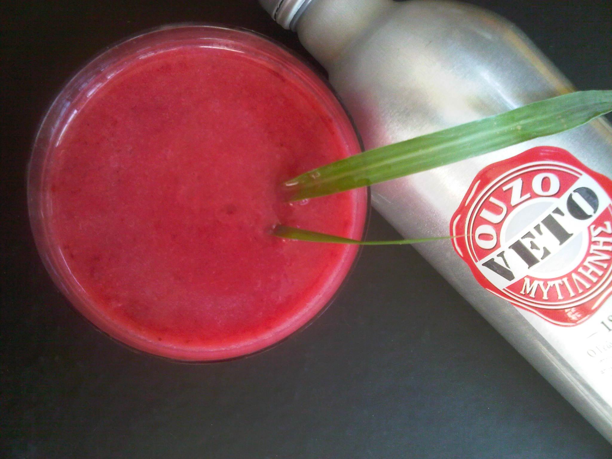 Raspberry Ouzo Slush