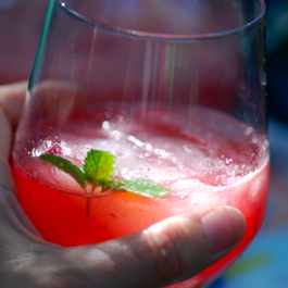 Watermelon-Raspberry-Ginger Cooler