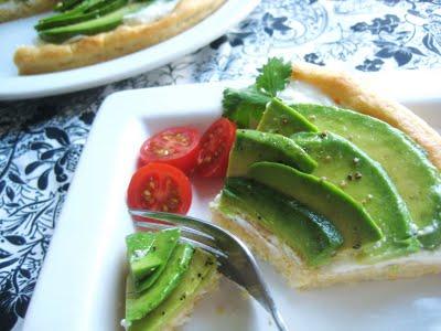 Avocado and Goat Cheese Tart