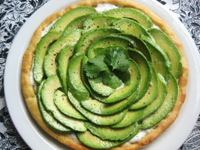 Avocado and Goat Cheese Tart