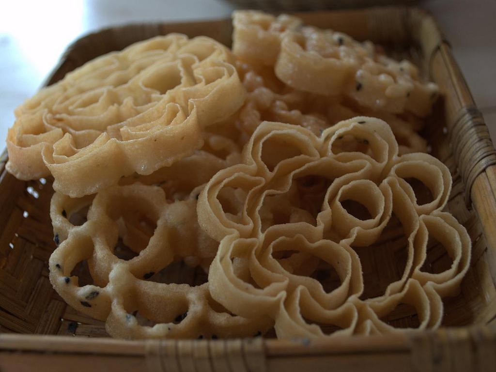 Achappam (A crunchy  rice pancake)