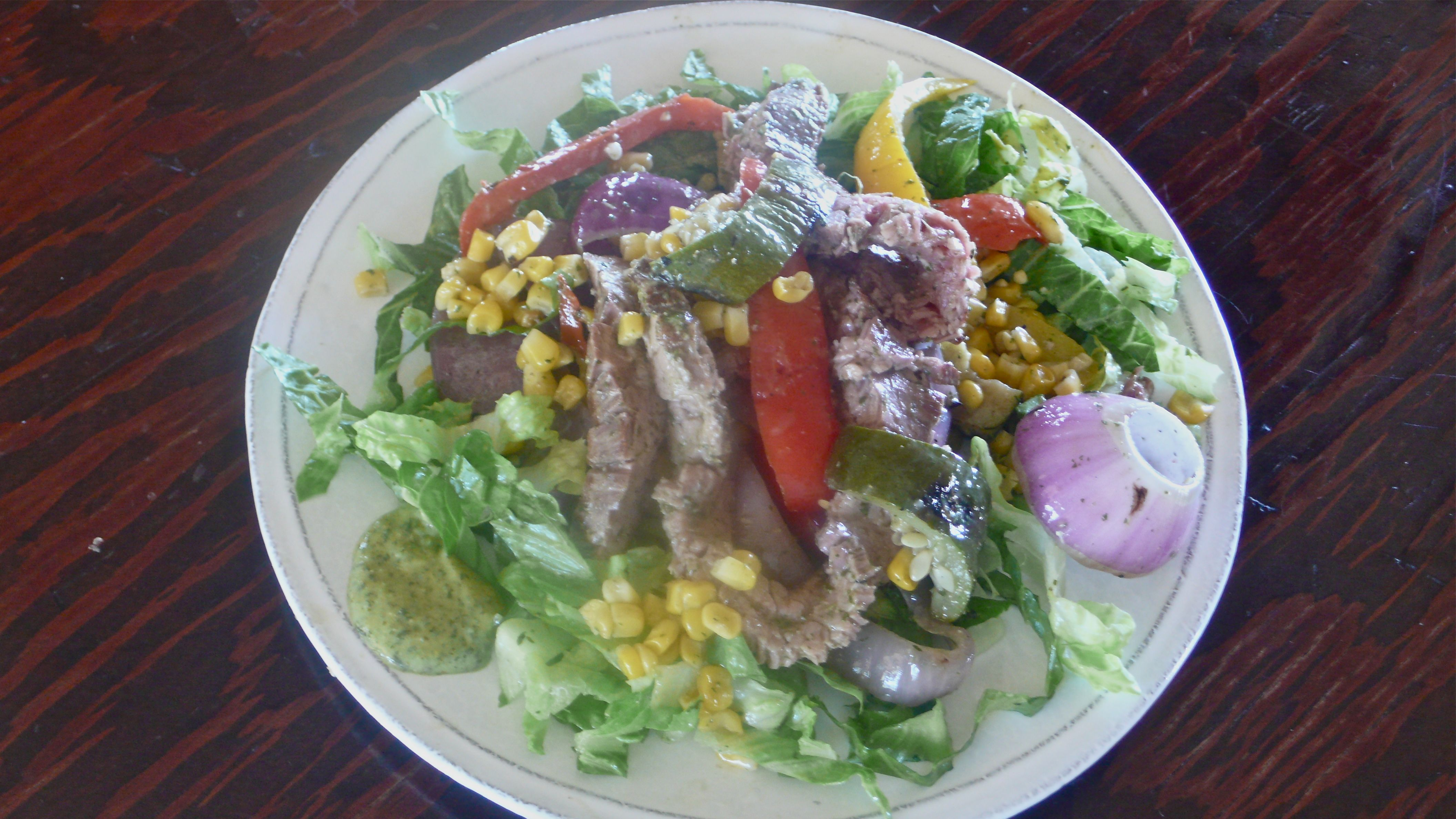 BBQ Vegetable and Beef Salad