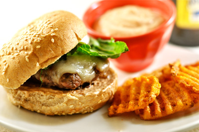 Jalapeno Burgers with Chipotle Mayo