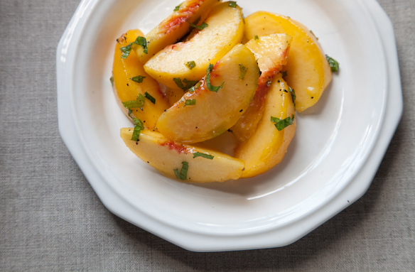Green Peach Salad from Food52