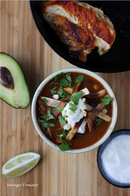 Chicken Tortilla Soup with Corn and Black Beans