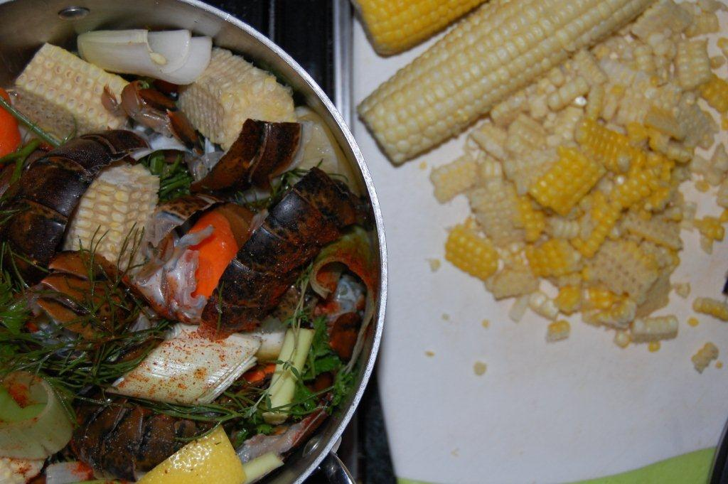 Double Sweet Corn and Lobster Chowder