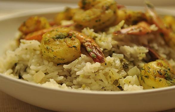 Shrimp Biryani (Indian Shrimp and Rice)