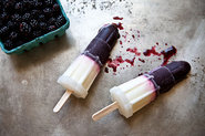 Blackberry, Rosemary, and Yogurt Ice Pops