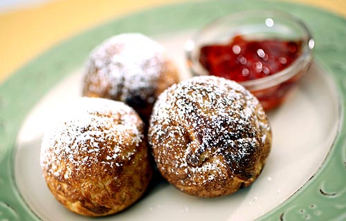 Aebleskivers with Lingonberry Jam