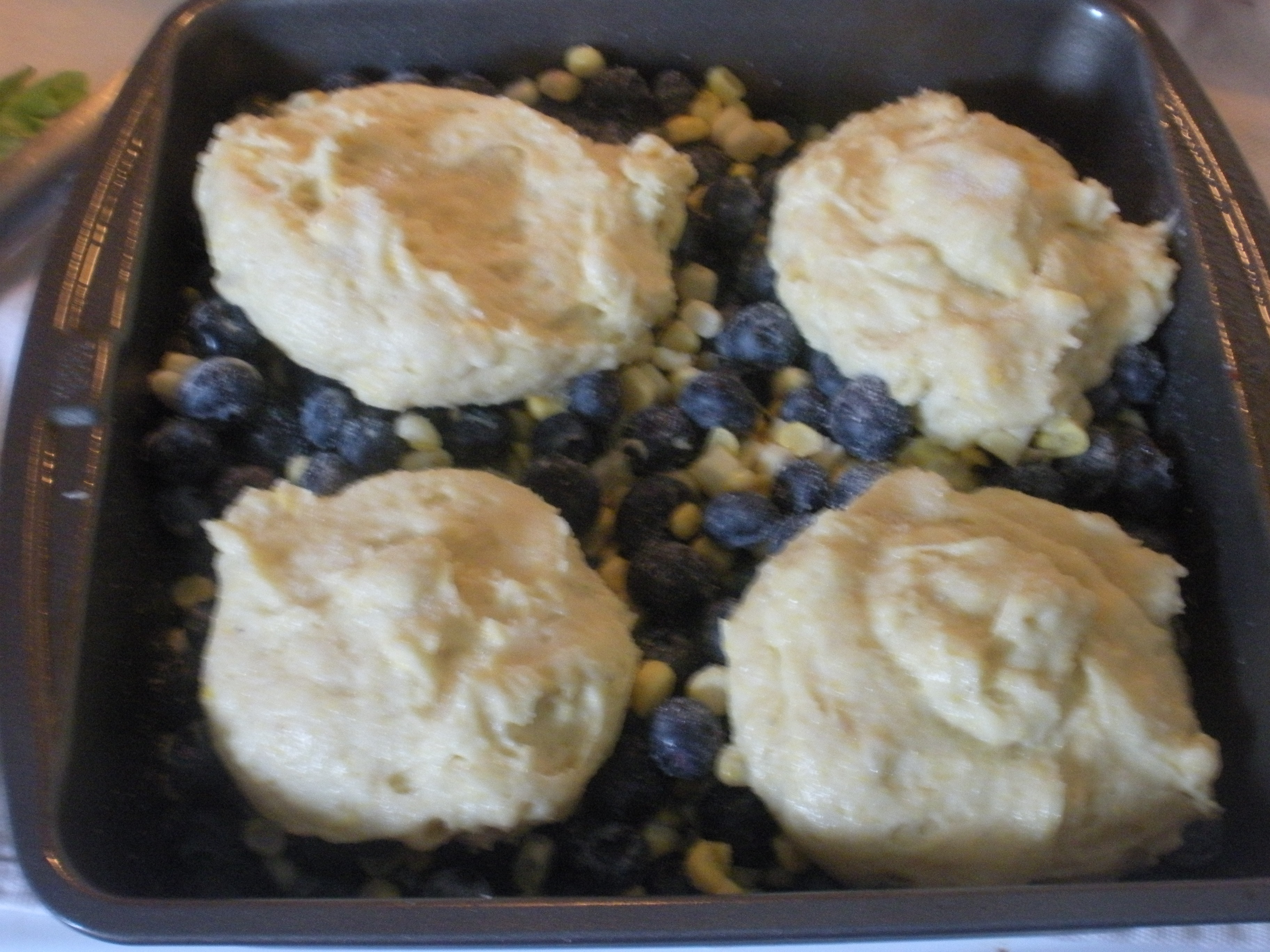 Corny Blueberry Cobbler