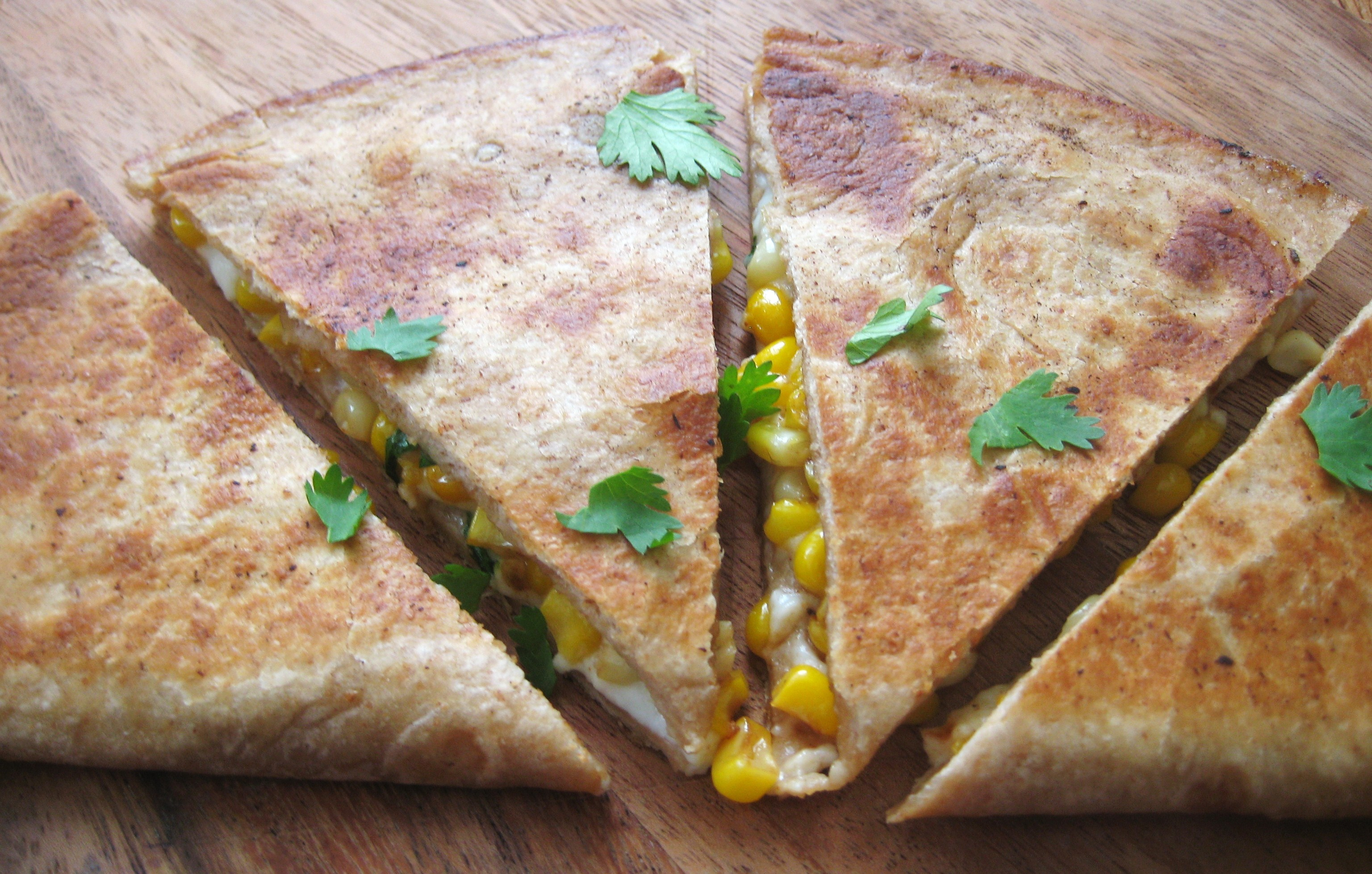 Roasted Corn and Cojita Quesadillas
