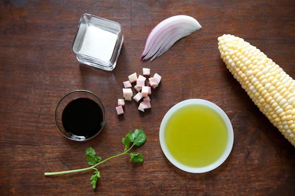 Corn Salad with Cilantro & Caramelized Onions