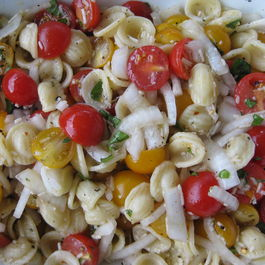 Orechiette With Cherry Tomatoes and Onion