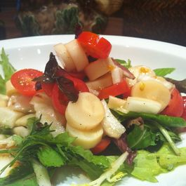 Cherry tomato,Funnel and Hearts of Palm Salad