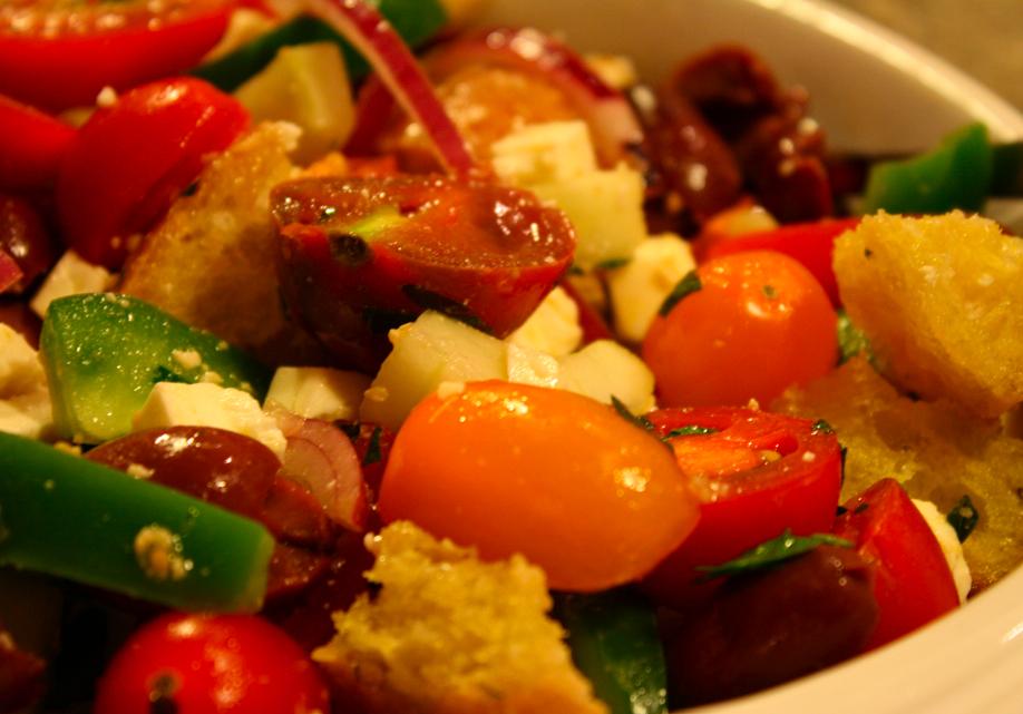 Greek Panzanella Recipe On