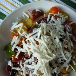 Sicilian Tomato Salad with Pecorino Vinaigrette