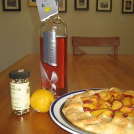 The Drunken Hussy (Or Bourbon-Soaked Peach Tart)