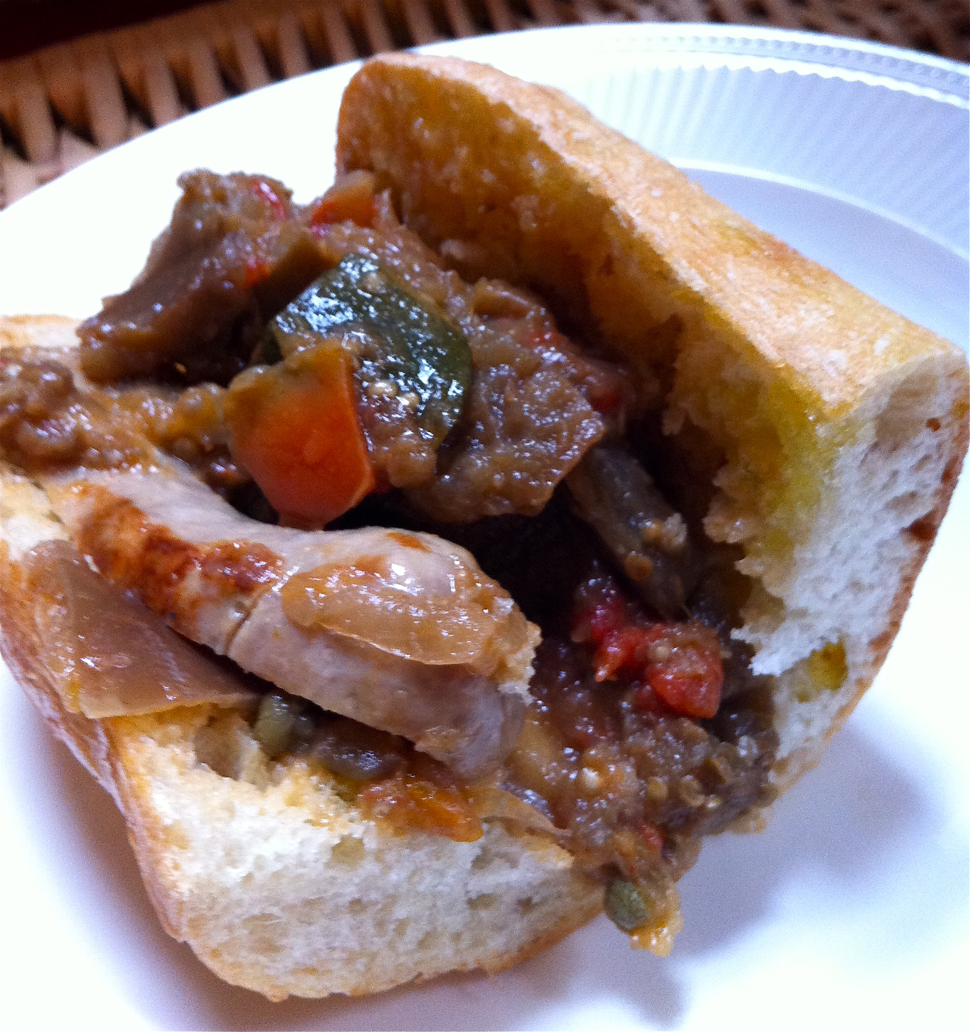 Italian Sausage and Ratatouille Sub