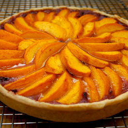 Peach-and-blackberry-tart