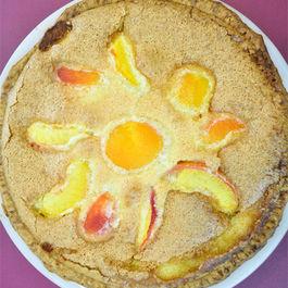 Brown Sugar Peach Custard Pie