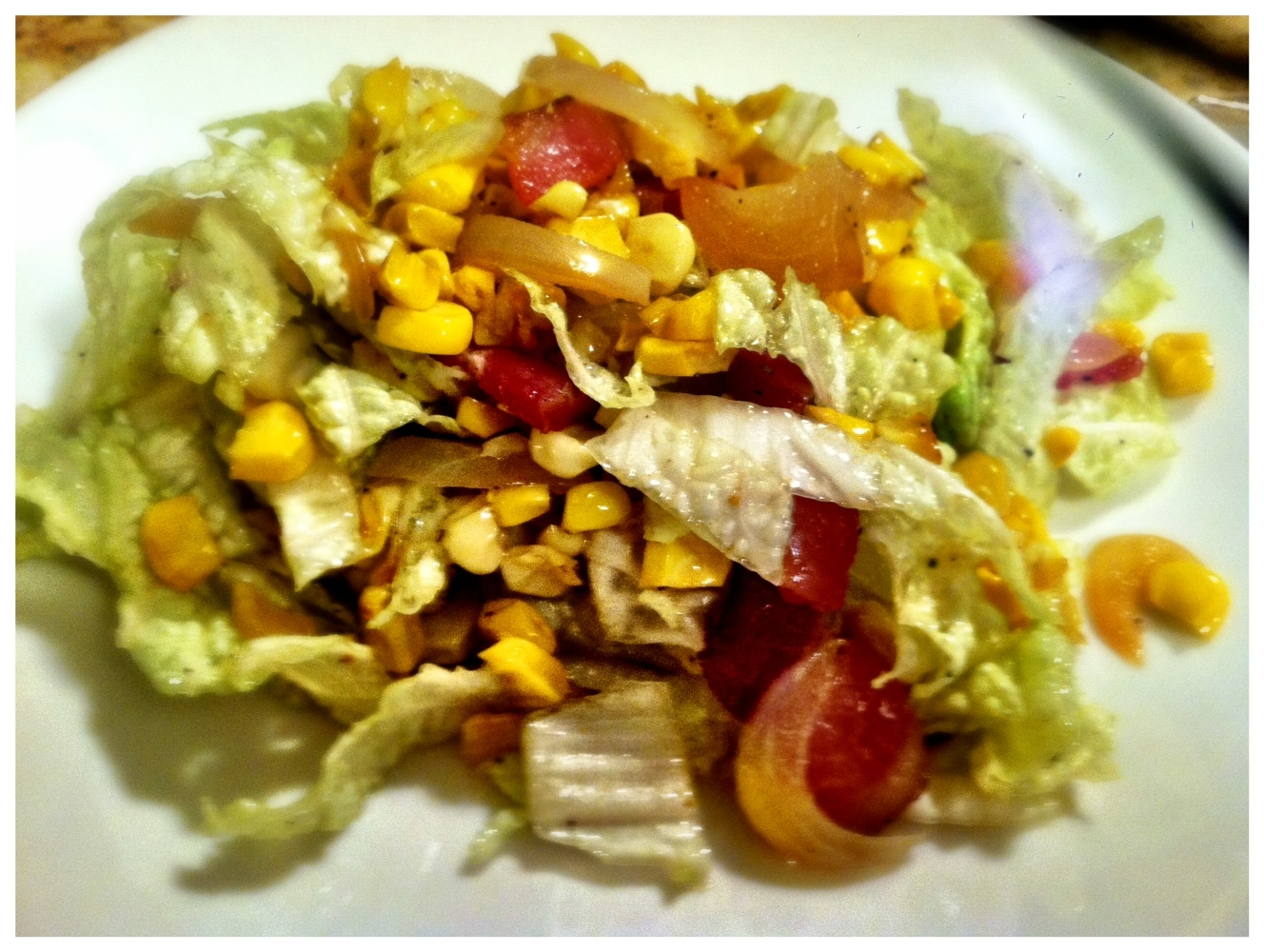 Roasted Corn and Bacon Napa Cabbage Slaw
