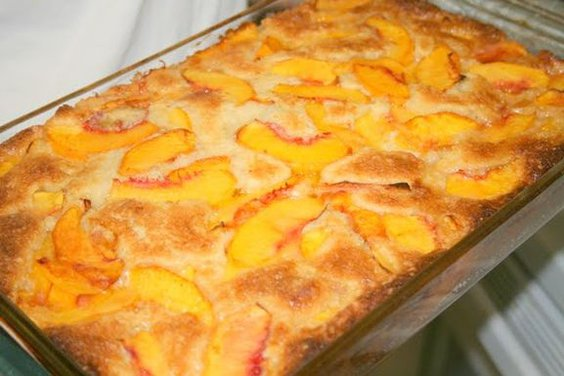 Cast Iron Peach Cobbler With Cake Mix