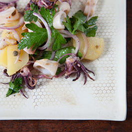 Grilled Squid Salad with Lemon, Capers, and Parsley