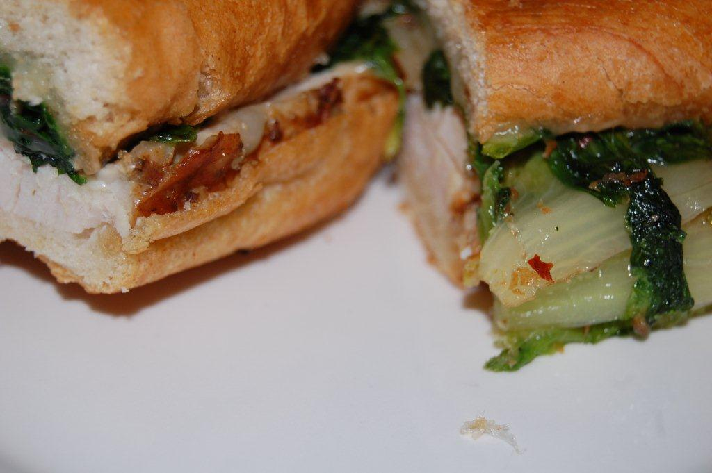 Turkey Porchetta and Sweet 'Scarole Paninis