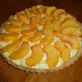 Peaches 'n Honey Cream Tart