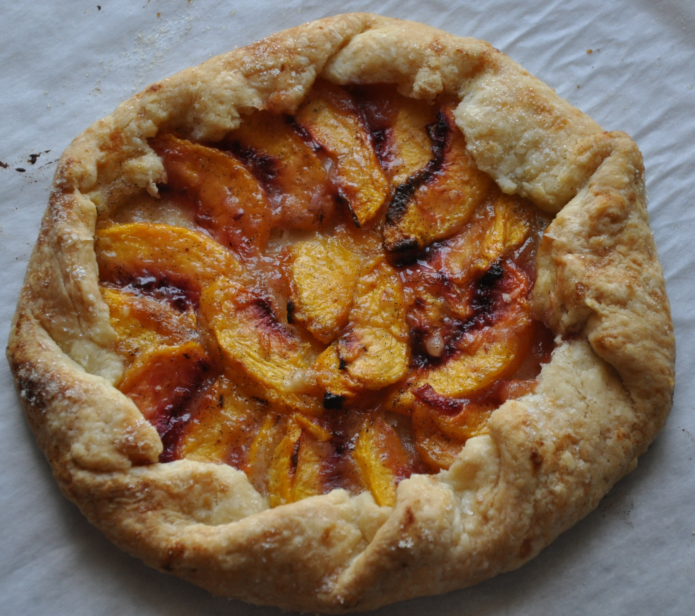 Mini Rustic Peach Tart