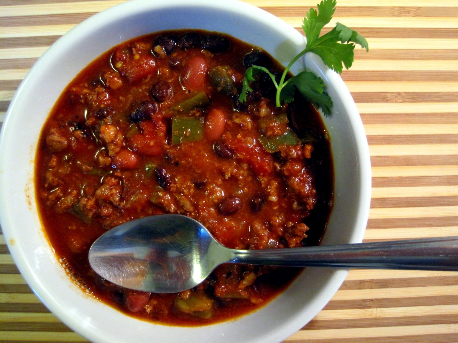 Black Bean and Chorizo Chili