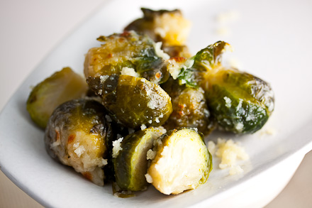 Parmesan-Crusted Brussels Sprouts