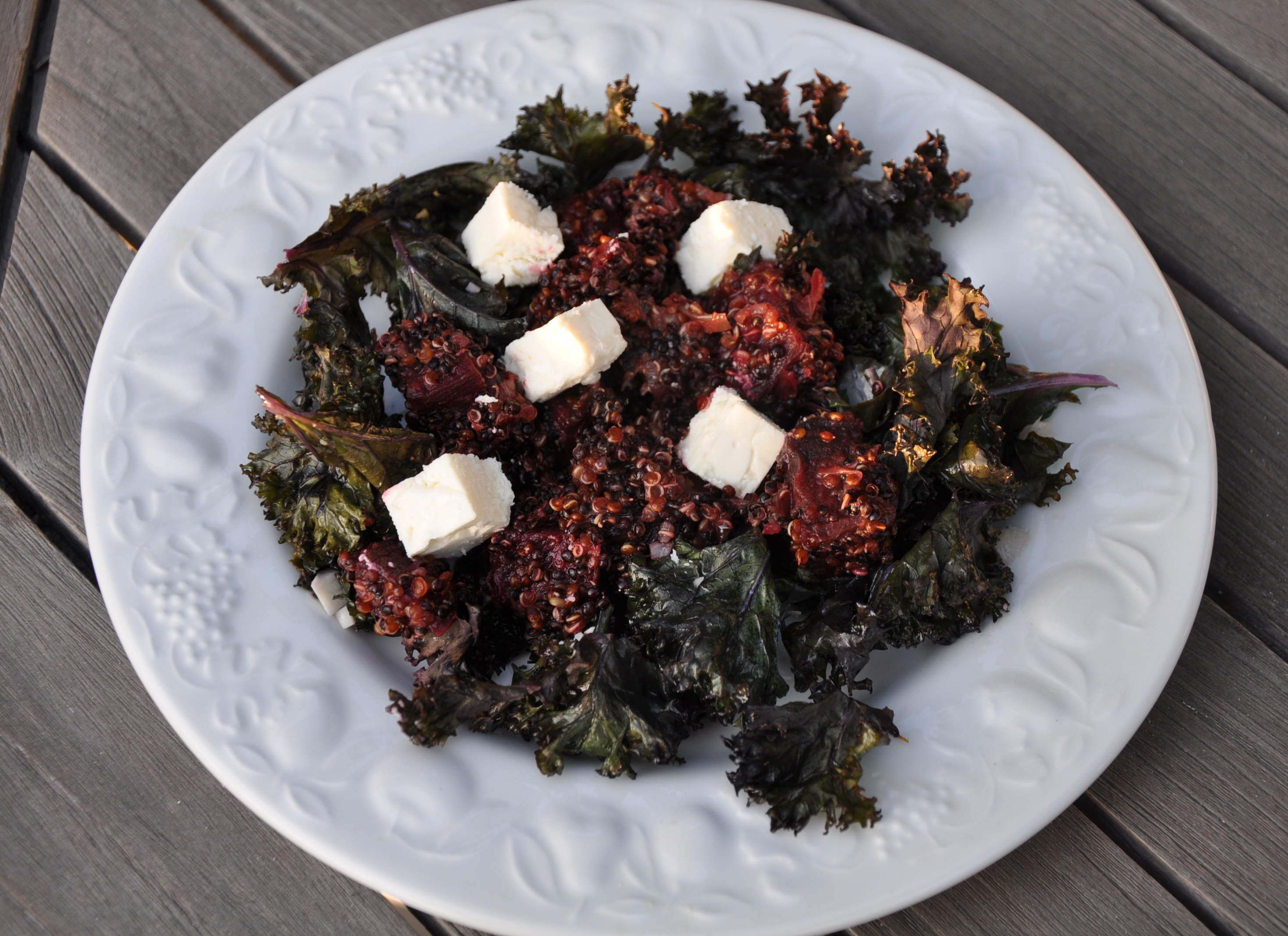 Warm Red and Black Quinoa Salad with Roasted Kale and ...