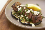 Grilled Lamb with Eggplant, Mint, and Feta