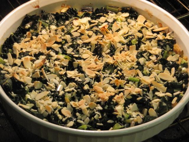 Gingery Kale Gratin
