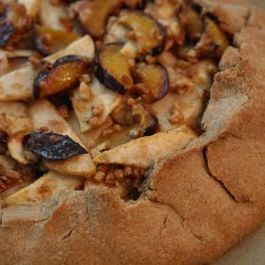 Whole Wheat Pear and Plum Free Form Pastry